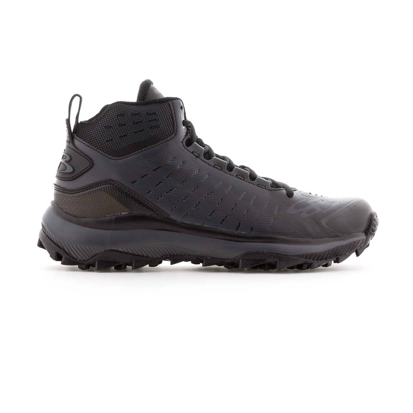 BoombahメンズCatalyst Mid Turf Shoes – 10カラーオプション – 複数のサイズ B07B5JZ6V6 8|ブラック/チャーコール ブラック/チャーコール 8