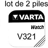 Pile de montre bouton varta 321 SR616SW 1.55v lot 2 piles