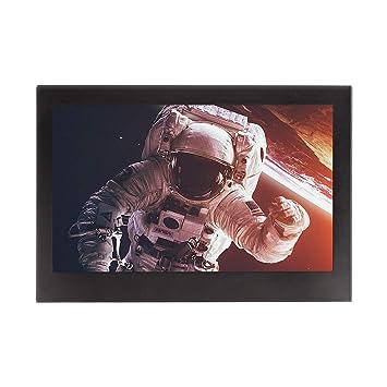 JOHNWILL Monitor LCD portátil de 7 Pulgadas HD 1024x600 Completo, Entrada de AV/VGA/HDMI, Carcasa de Metal Negro