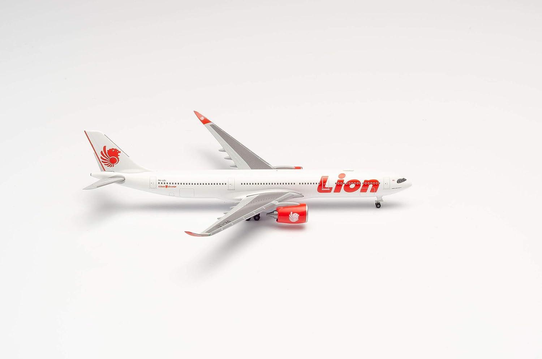 herpa 533676 Lion Air Airbus A330-900 neo in Miniatur zum Basteln Sammeln und als Geschenk Mehrfarbig