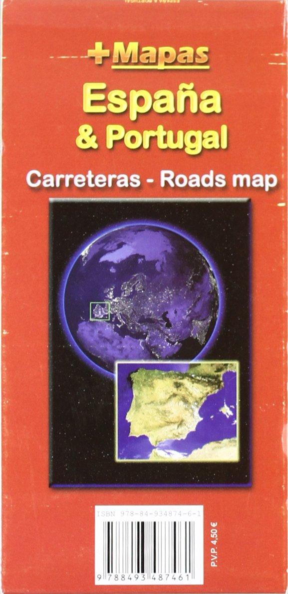 Mapa carreteras España & Portugal (desplegable): Amazon.es: Aa.Vv ...