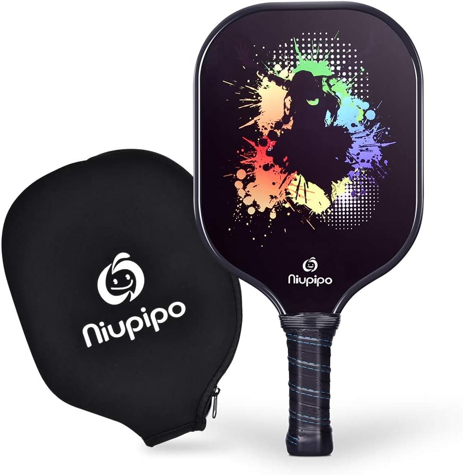 Pickleball Paddle - USAPA Pro Graphite Pickleball Racket with Graphite Carbon Fiber Face, Polypropylene Honeycomb Core Ultra Cushion, 4.5In Grip ...