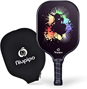 Pickleball Paddle - USAPA Approved Graphite Pickleball Racket with Graphite Carbon Fiber Face, Polypropylene Honeycomb Core, Ultra Cushion, 4.5 In Grip, Lightweight 8OZ with Cover, Ideal for Beginners