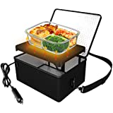 Portable Oven, 12V Car Food Warmer Portable Personal Mini Oven Electric Heated Lunch Box for Meals Reheating & Raw Food…