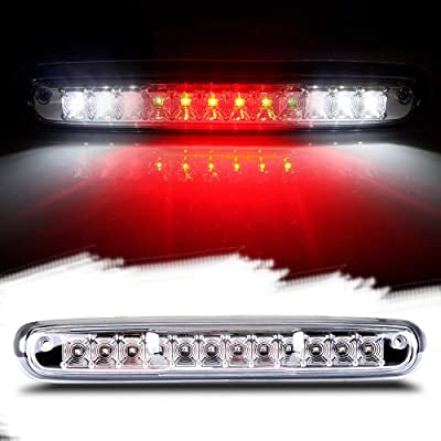 Third Brake Light LED 3rd Brake Light Rear Tail Brake Light Cargo Lamp Waterproof Clear Lens Chrome Housing High Mount Brake Light Replacement fit for 2007-2013 Chevy Silverado GMC Sierra 25890530: Automotive