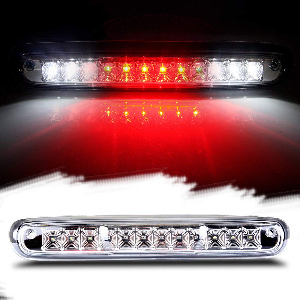 Third Brake Light LED 3rd Brake Light Rear Tail Brake Light Cargo Lamp Waterproof Clear Lens Chrome Housing High Mount Brake Light Replacement fit for 2007-2013 Chevy Silverado GMC Sierra 25890530