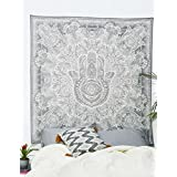 tapestry hamsa hand throw indian hippie tapestry wall hanging urban sketched hand tapestry urban tapestry wall decor dorm deco bedding by craft n craft