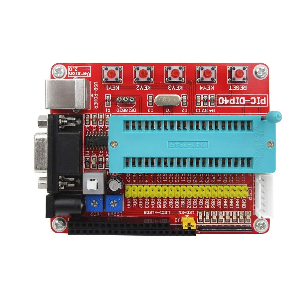 1PCS Mini System PIC Development Board 3D Printer Microchip PIC16F877 PIC16F877A
