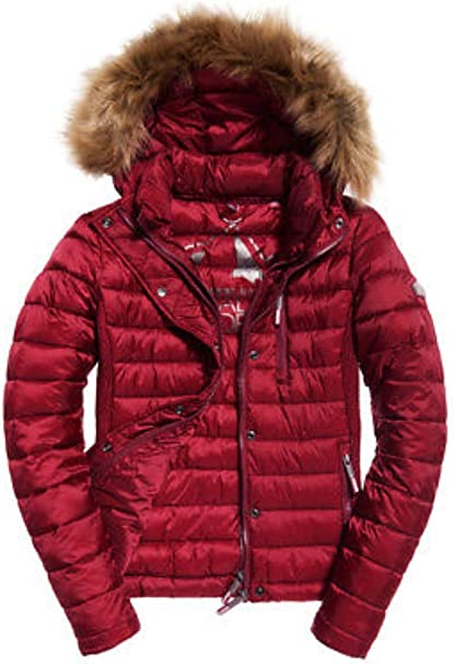 superdry jacken damen rot