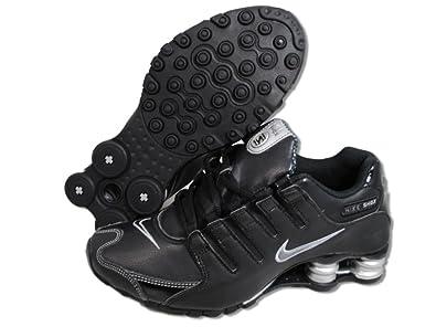 the best attitude 935ec a849a Nike Shox NZ Womens Running Shoes Black Dark Grey-Metallic Silver-Metallic  Silver