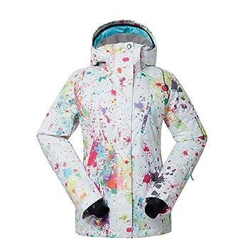 Zjsjacket Traje de Esqui Mujeres Chaquetas de Nieve Ropa de Snowboard Deportes al Aire Libre 10 K Impermeable a Prueba de Viento Transpirable Abrigo de ...
