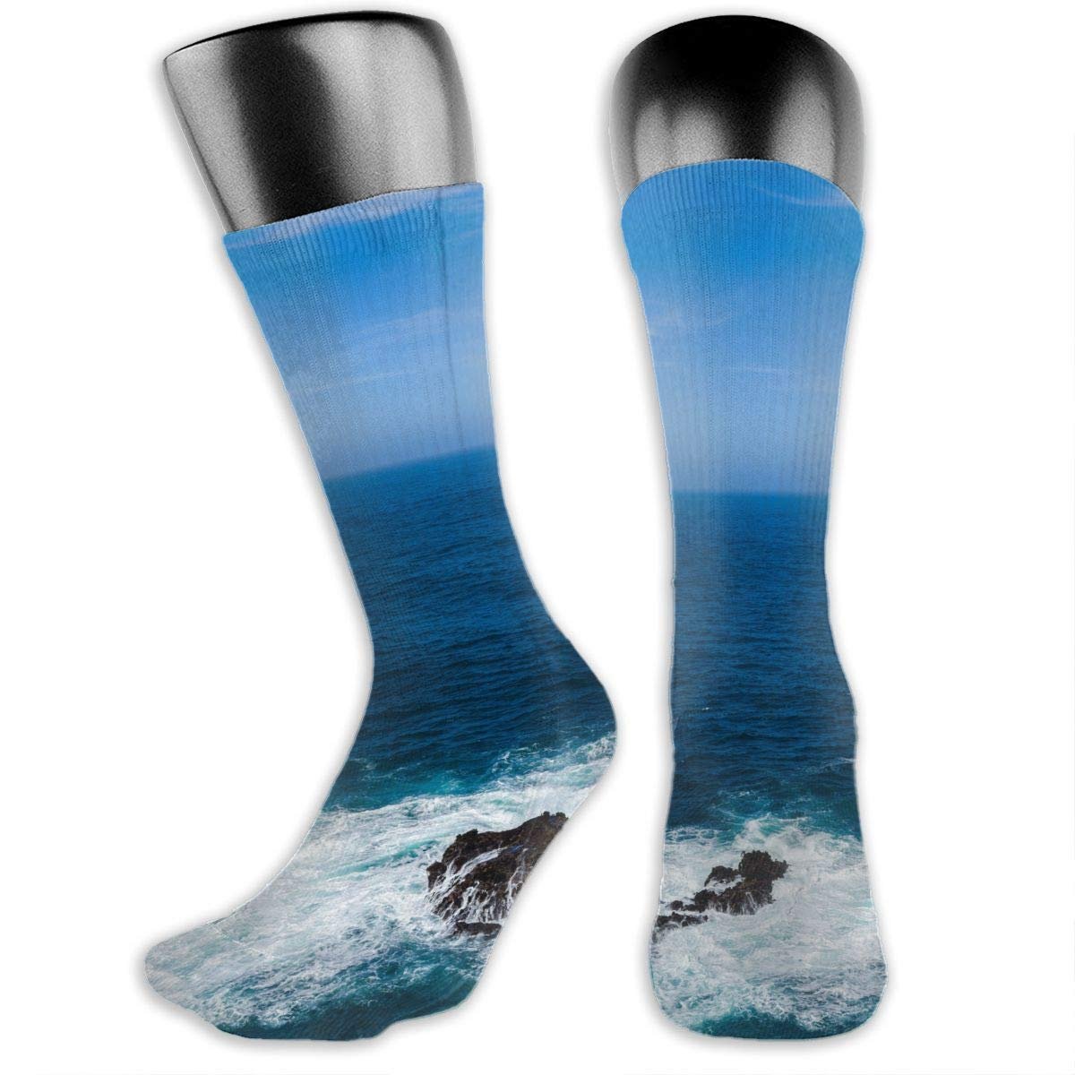 OLGCZM Blue Sea Sky of Water Men Womens Thin High Ankle Casual Socks Fit Outdoor Hiking Trail