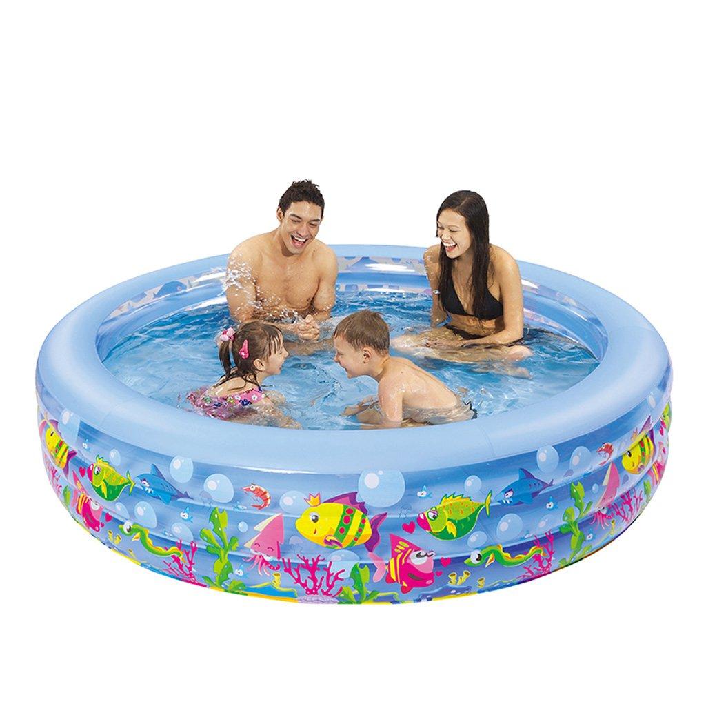 Aufblasbare Pools XULAN Aufblasbares Schwimmbecken Kinderbecken Trompete Großes Hausschwimmbad Erwachsenes Babyschwimmbad Verdickung