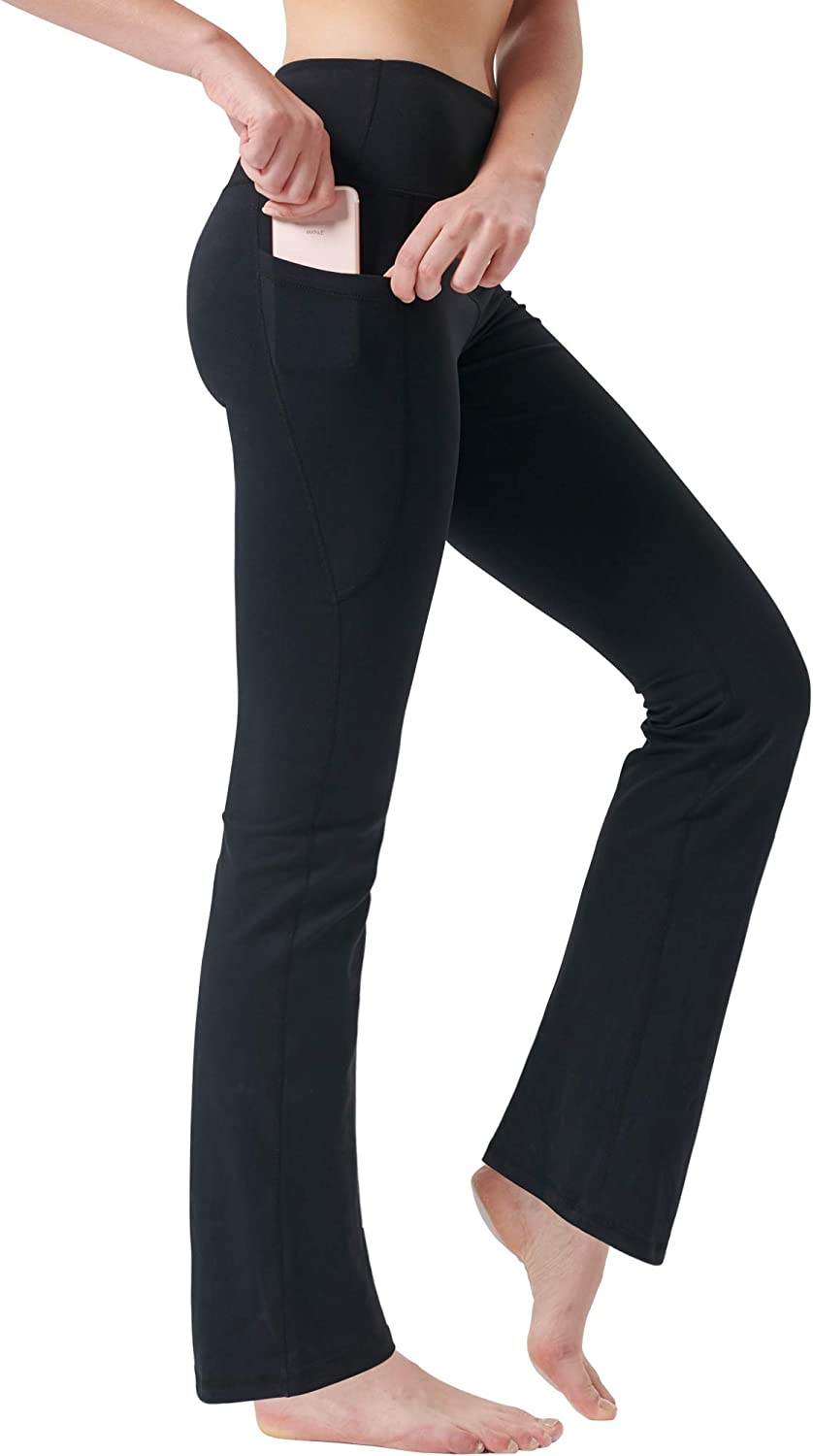 Zeronic High Waist Yoga Pants with Pockets Tummy Control for Women 4 Way Stretch Leggings with Pockets