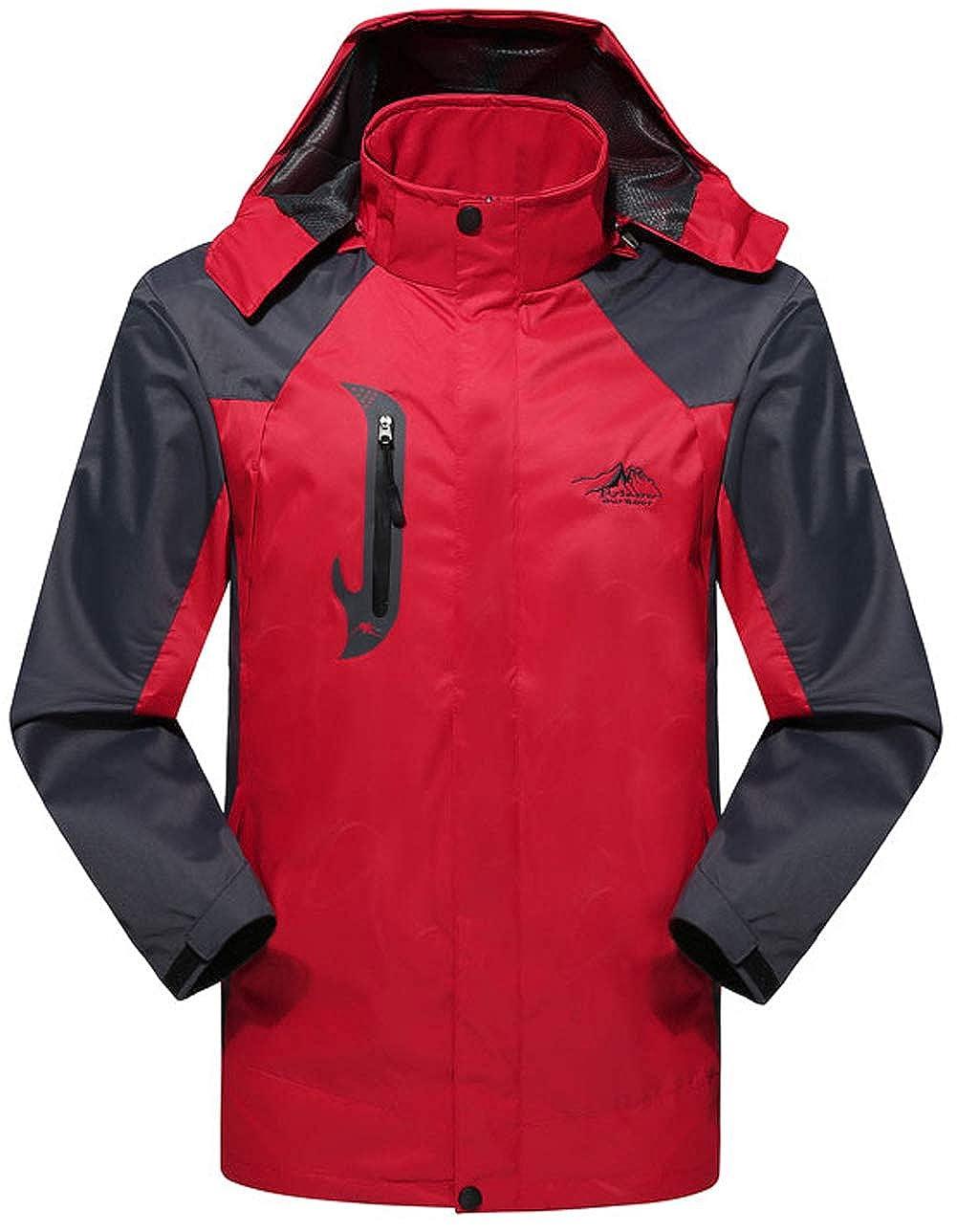 FAFNIR Men Lightweight Jackets Waterproof Jacket Coats with Hooded