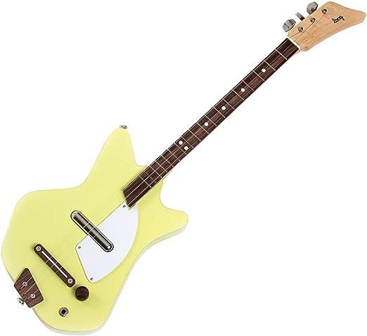 Loog LGE02Y Solid Body - Guitarra eléctrica de 3 cuerdas, color ...