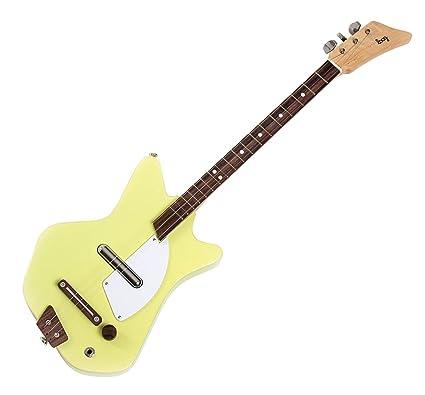 Loog LGE02Y Solid Body - Guitarra eléctrica de 3 cuerdas, color amarillo
