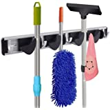 RockBirds T45 Towel Hook, Mop and Broom Holder, Storage Solutions for Broom Organizer, Closet Garage Organizer, Garden Tool Storage