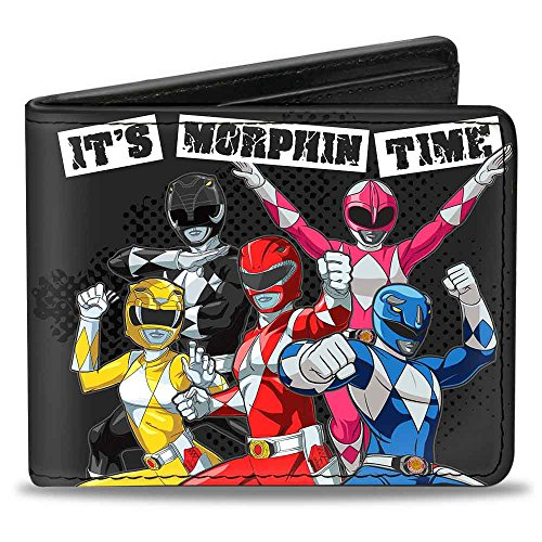 Buckle-Down Men's Wallet 5-Power Rangers Group Pose It's Morphin Time + Mighty, Multicolor, One Size