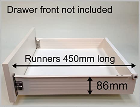 Replacement Kitchen Drawer Box Shallow Complete Kit Including Runners From 17 70 07 For 500 Wide Base With 15mm Thick Sides
