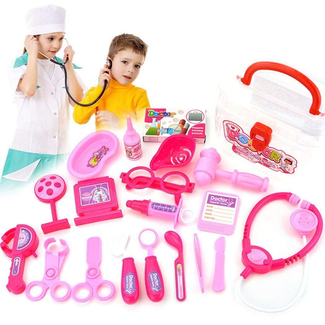 Redpol Durable with Stethoscope Medical Doctor Equipment Kids Doctor Kit Toy Activity Play Centers
