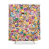 Society6 Emoji / Emoticons Shower Curtain 71'' by 74''