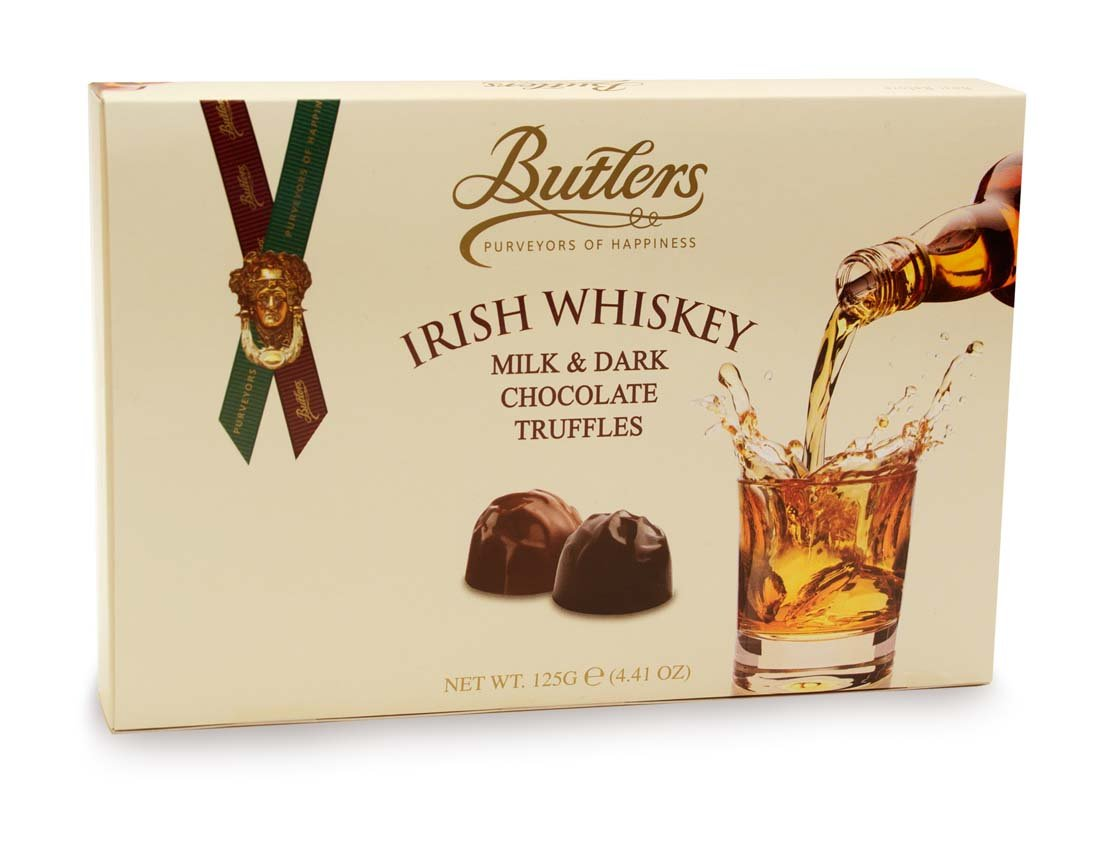 Butlers Irish Whiskey Milk & Dark Chocolate Truffles Selection, 125g