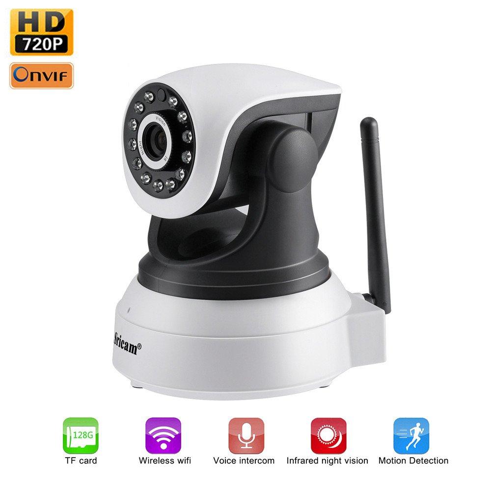 LESHP IP WiFi P2P Cámara Video Vigilancia IR Vision nocturna HD 720P con Micrófono y altavoz, Detección de movimiento-sonido, compatible...