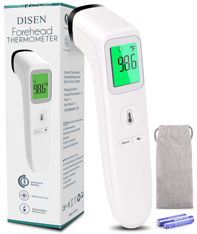 Termómetro de frente infrarrojo sin contacto, Termómetro sin contacto para adultos niños y bebés