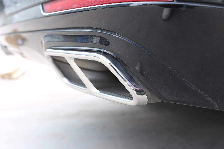 f/ür S-Klasse W222 Coup/é 2010-2017 AMG Auspuff-Ausg/änge Heckklappe Auto au/ßerhalb Trim Rohr Throat Edelstahl 2 St/ück//Satz Au/ßen Auto Fahrzeug Zubeh/ör