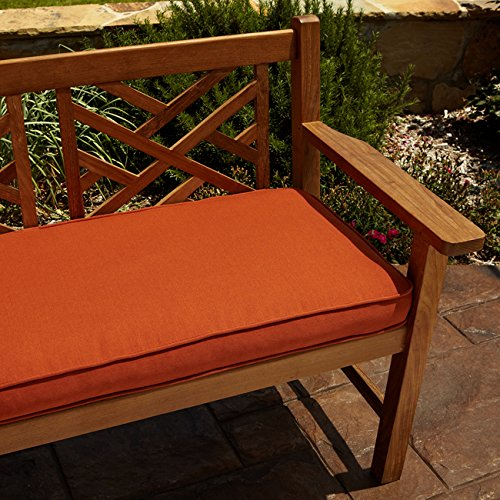 Clara Rust Indoor/ outdoor 60-inch Sunbrella Bench Cushion / 3 in. H x 60 in. W x 19 in. L