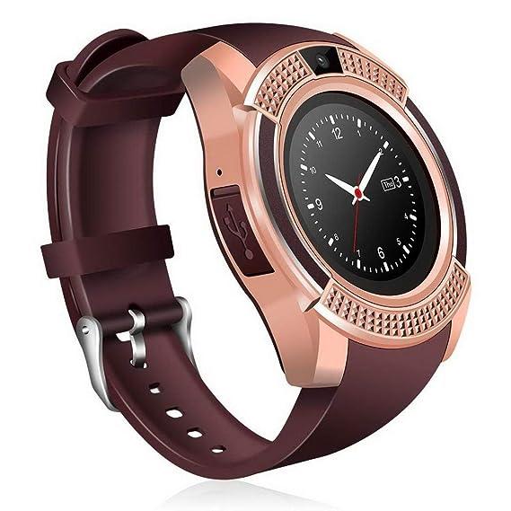 Acecoree Reloj Inteligente Smartwatch Bluetooth para Mujer y Hombre Fitness Podómetro Monitor de Seguimiento del Sueño
