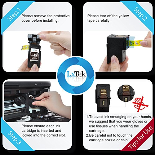 LxTek Remanufactured Ink Cartridge Replacement for PG-240XL 240XL 240 (2 Black) High Yield for PIXMA MG3620 MG3520 MX532 MX472 MG2120 MG3222 MG3522 MG3220 MX432 MX452 MX522 MX512 MG4220 MX439 MG4120 Photo #7