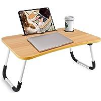 Rainbean Foldable Lap Desk with Phone Slots