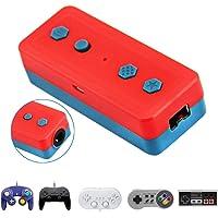 Detroit Packaging Co. - Adaptador inalámbrico Bluetooth para Nintendo Switch y Windows PC, funciona con cable NGC Gamecube, NES SNES Wii Classic Controllers - adaptador de cable a Bluetooth