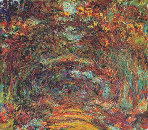 The Rose Walk - Masterpiece Classic - Artist: Claude Monet c. 1920s (36x54 Giclee Gallery Print, Wall Decor Travel Poster) ()