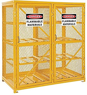 Genial Cylinder Storage Cabinet For Lp Propane Tanks   Stores Sixteen 20 Or 33 Lb  Tanks