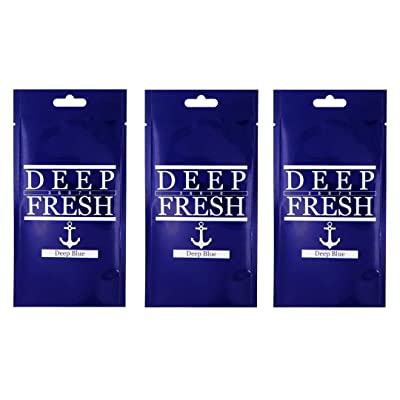 Deep Fresh Deep Blue Air Freshener - 3 Pack: Automotive