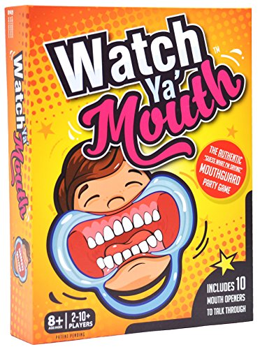 Guess Where Board Game (Watch Ya' Mouth Family Edition - The Authentic, Hilarious, Mouthguard Party Card Game)
