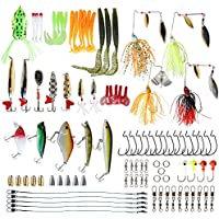 NetAngler Fishing Lures Kit, Bass Baits with Accessories...