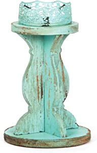 M&F Turquoise Lace Candle Holder