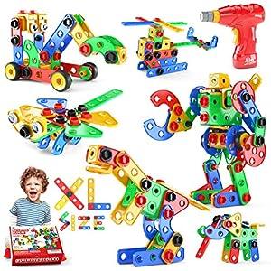 Best Epic Trends 61DzeDMeR%2BL._SS300_ Jasonwell STEM Toys Building Blocks - 168 PCS Educational Construction Tiles Set Engineering Kit Creative Activities…