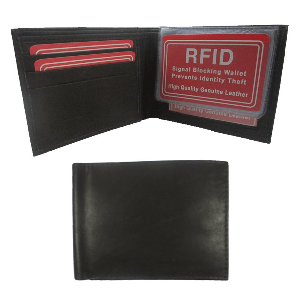 1f6800fb2951 Amazon.com : Mens RFID Wallet Blocking Genuine Leather Bifold Credit Card  ID Slot Holder New : Office Products