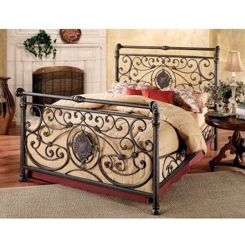 Hillsdale Furniture 1039BKR Mercer Bed Set with Rails, King, Antique Brown