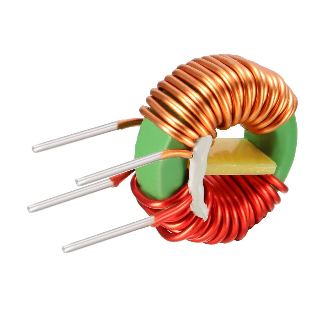 sourcing map 10Pcs Toroid Magnetic Inductor Monolayer Wire Wind Wound 2mH Inductance Coil