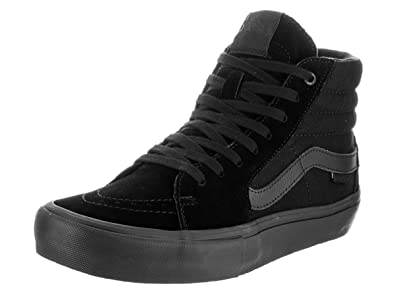 Vans Men's Shoes SK8-Hi Pro Blackout Black Sneakers (8 D(M) US)