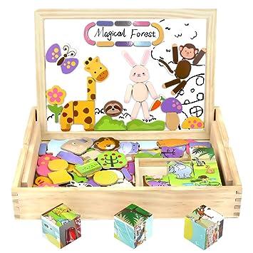 Baby Spielzeug Puzzles,3D-Puzzles,Puzzles aus Holz 10 stil Block Puzzle