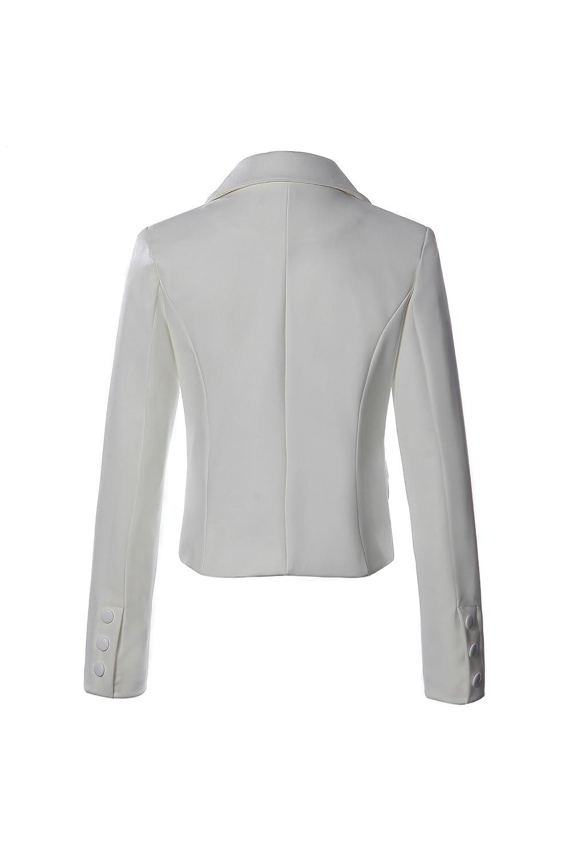 c15243063f0 Missy Women s Suit Solid Colors Plus Size 2 Button Bi Stretch Notch Long  Sleeve Casual Work Office Blazer Jacket
