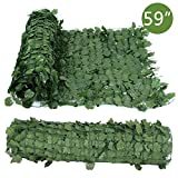 LEMY 59'' x 94''/ 39'' x 94'' Faux Ivy Privacy Fence Screen Artificial Outdoor Hedge Leaves Fencing Panel Decoration for Wall, Home, Garden, Yard (Green) (59'' x 94'')