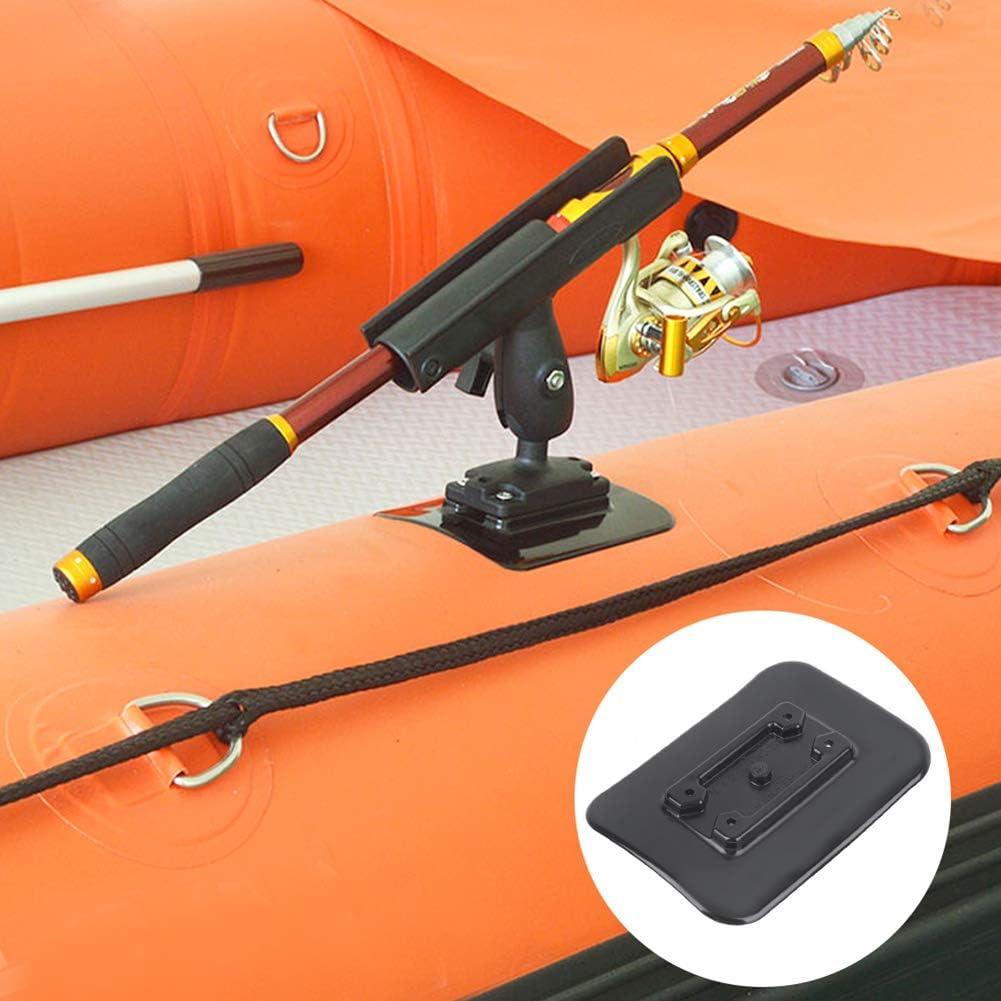 Accesorios de montaje de base de pesca de goma de calidad para barco inflable kayak canoa f/ácil de usar e instalar